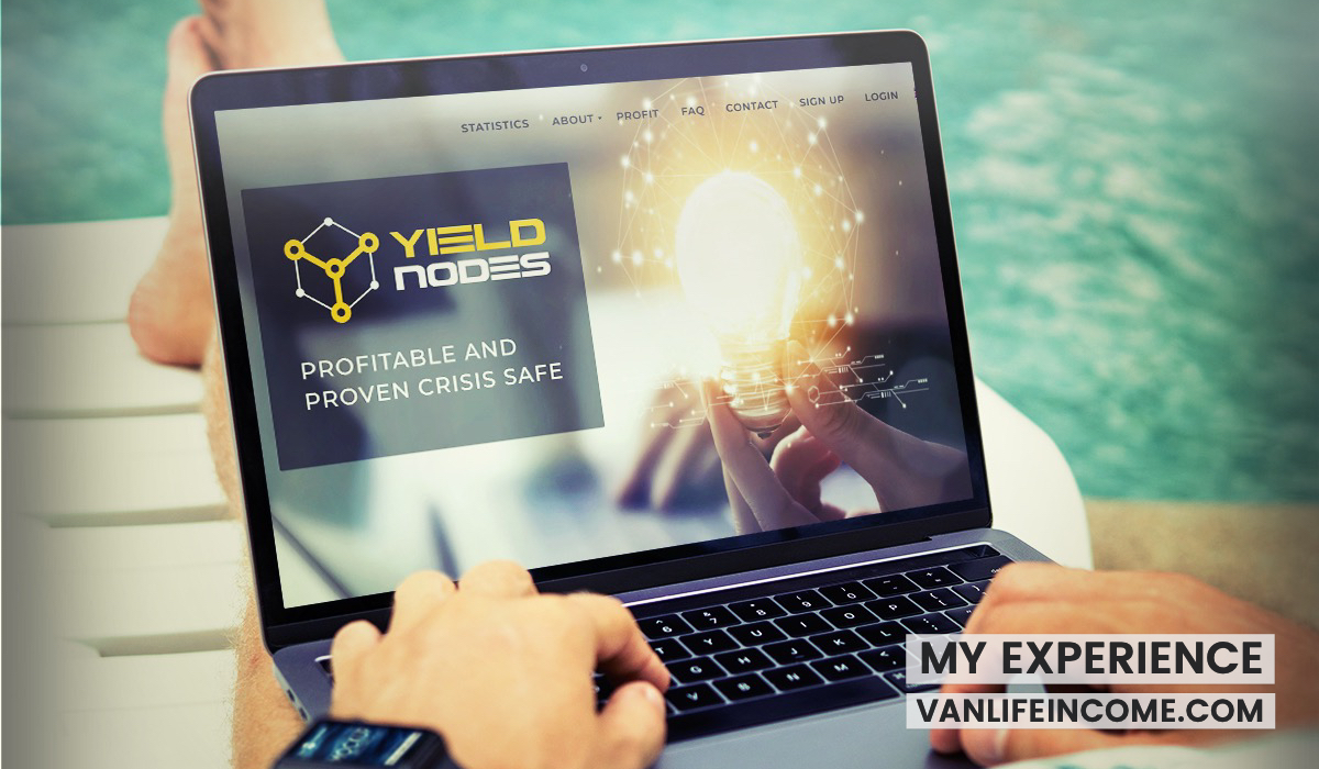 YieldNodes review - passive investment Van Life Income money